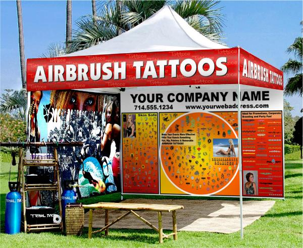 airbrush tattoos, airbrush body art, airbrush paint, airbrush stencils, temporary airbrush tattoos, body paint, co2 tanks, banners