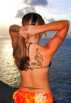 tattoo on the upper back body